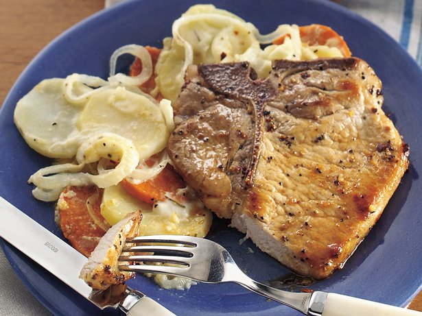Swiss Pork Chop and Potato Casserole