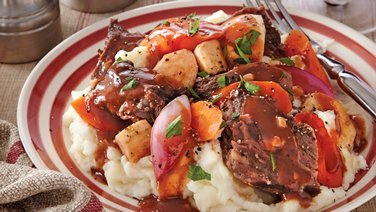 Slow-Cooker Root Vegetable Pot Roast