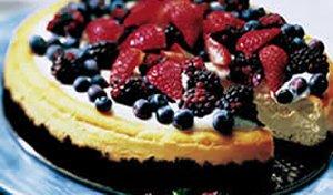 Berry Cheesecake in Chocolate Crust