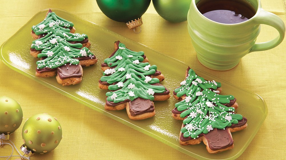 Peanut Butter Christmas Tree Cookies