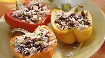 Cook Stuffed Peppers On the Grill, Vegatarian Style