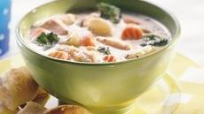 Creamy Chicken-Vegetable Soup Recipe