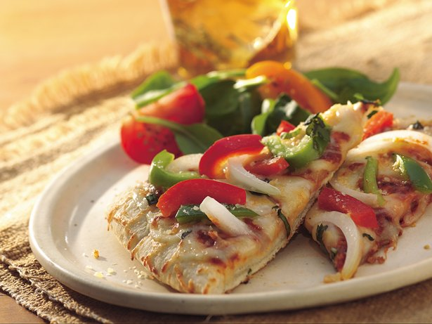 Grilled Bell Pepper and Cheese Pizza
