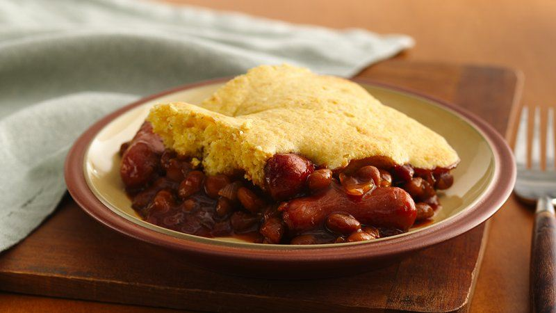 Corn Dog Casserole recipe from Betty Crocker
