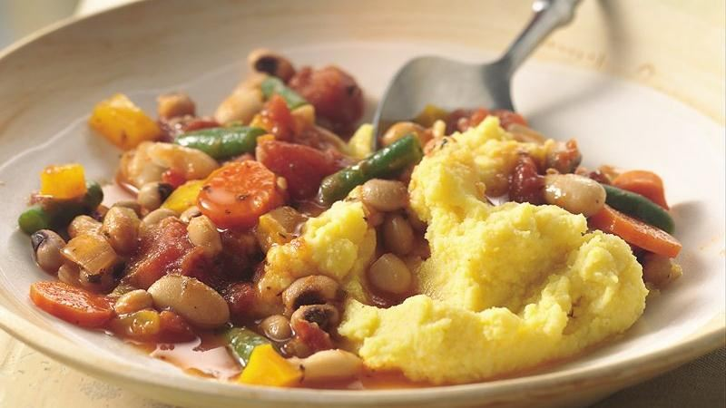 Bean and Vegetable Stew with Polenta