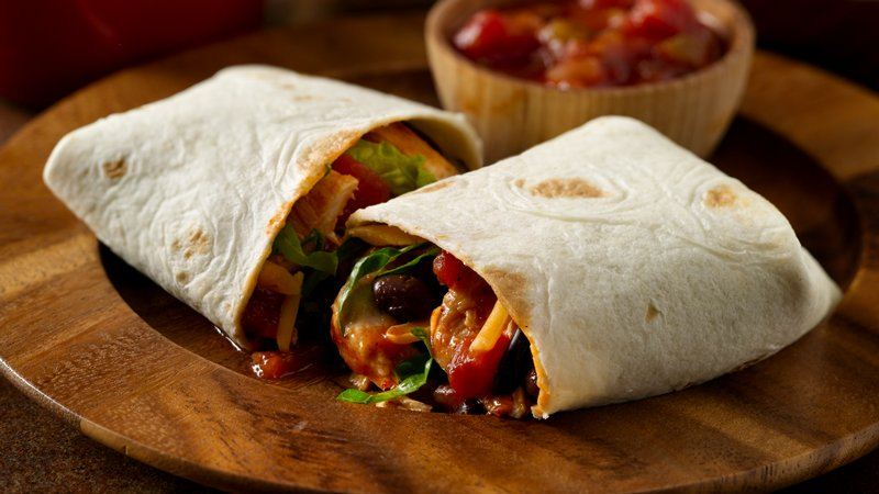 Chile Chicken Burritos