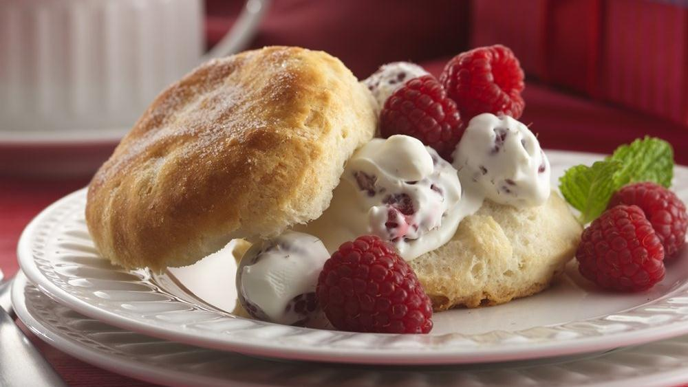 Raspberry & Cream Shortcakes recipe from Pillsbury.com