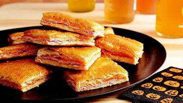 Ham and Cheddar Slab Pie