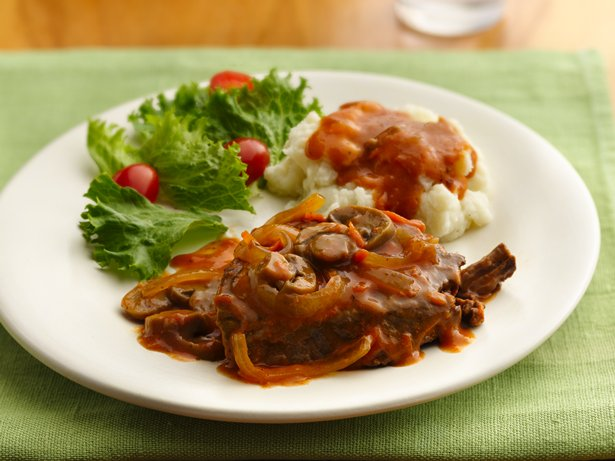 Slow Cooker Smothered Swiss Steak