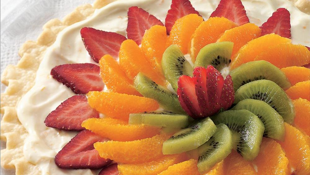 Easy Fresh Fruit Dessert Pizza