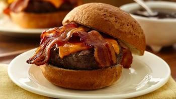Bacon Cheddar French Onion Burgers