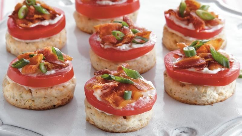 Savory Tomato Bacon Biscuit Bites