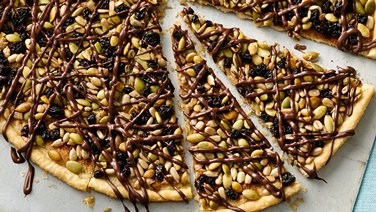 Seeds and Chocolate Pastry Wedges