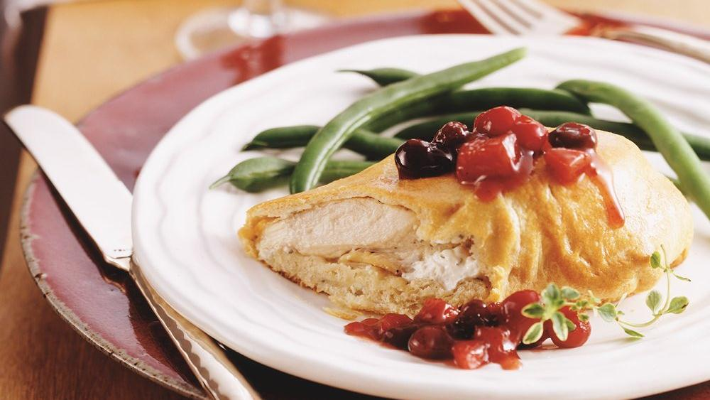Chicken Breast Bundles with Cranberry Chutney