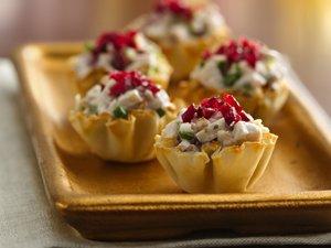 Cranberry Chicken Fillo Cups