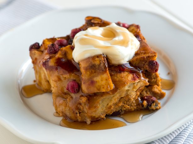 Pumpkin and Cranberry Breakfast Strata