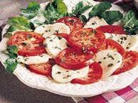 Garlic-Basil Tomatoes with Mozzarella