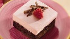 Raspberry Cream-Brownie Dessert Squares Recipe