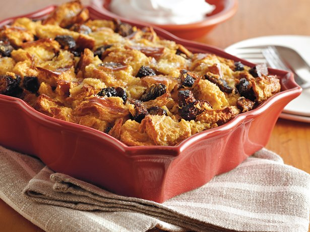 Spiced Fig Bread Pudding