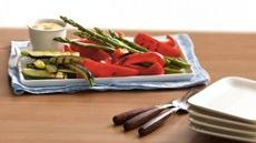 Grilled Veggie Platter with Ginger-Mustard Dip  Recipe