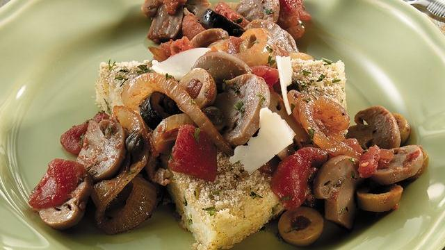 Image of Arborio Rice Cake With Mushroom & Olive Ragout, Pillsbury