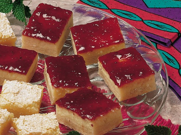 Raspberry Cheesecake Bars (lighter recipe)