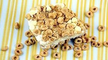 Honey Nut Cheerio Ice Cream Crunch Cake