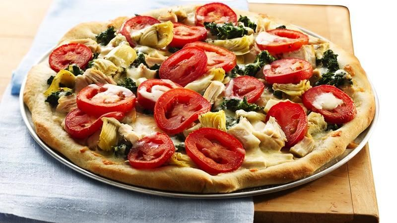 Rustic Chicken Pizza