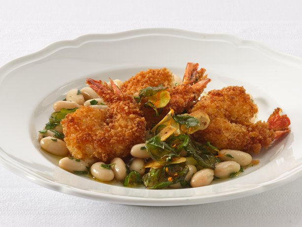 Image of Angry Shrimp With Tuscan White Beans, Betty Crocker