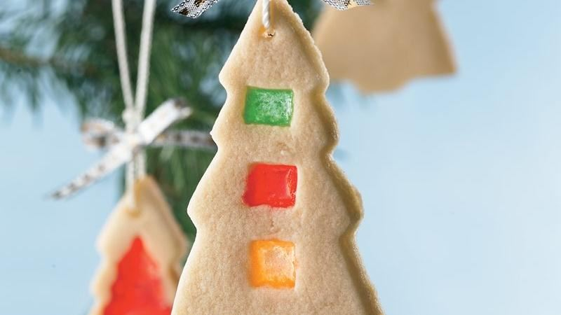 Stained-Glass Christmas Tree Cookies