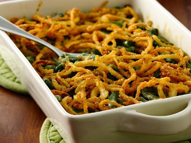 Gluten Free Green Bean Casserole with Fried Onions