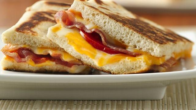 Bacon Double-Cheese Panini