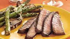 Grilled Balsamic- and Roasted Garlic-Marinated Steak Recipe