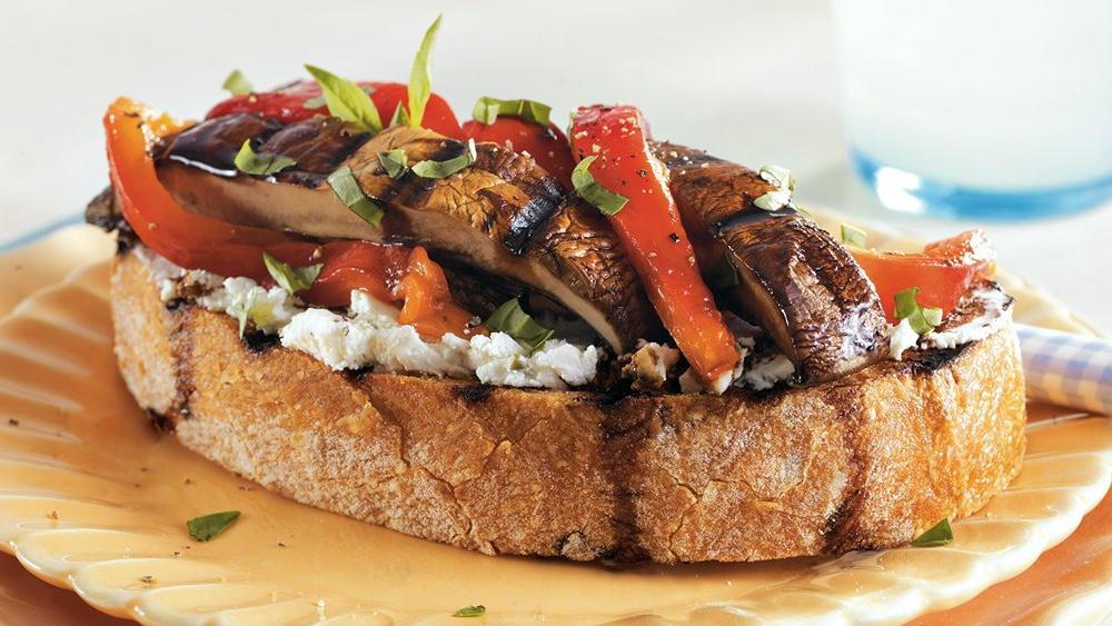 Open Face Portabella Sandwiches