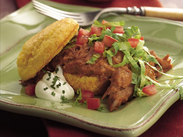 Slow Cooker Taco Shortcakes