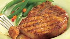 Glazed Sweet-and-Sour Grilled Pork Chops Recipe