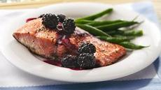 Grilled Blackberry-Glazed Salmon Recipe