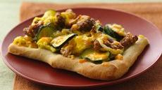 Sausage and Zucchini Breakfast Pizza Recipe