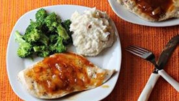 Grilled Chicken with Peach Apricot Sauce recipe - from Tablespoon!
