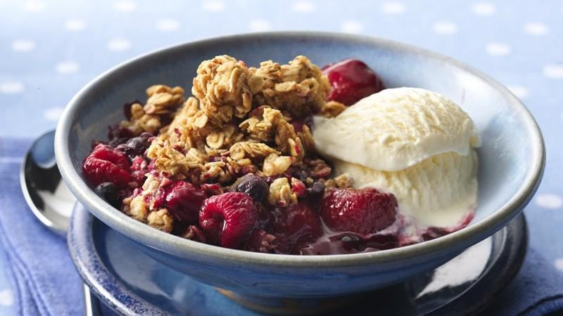 Triple-Berry Granola Crisp recipe from Betty Crocker