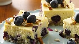 Lemon-Blueberry Pretzel Cheesecake Squares Recipe
