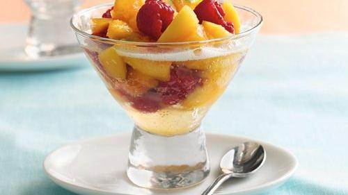 Peachy Mimosas recipe from Betty Crocker