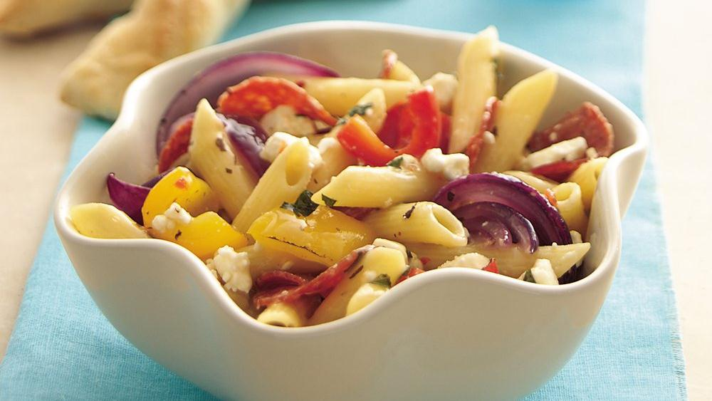 Roasted Sweet Pepper Pasta Salad with