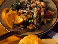 Italian Barley and Bean Pilaf