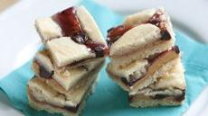 Chocolate, Peanut Butter and Jam Cookie Bars Recipe