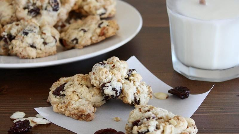 Cherry Almond Oat Breakfast Cookies