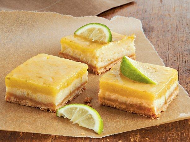 White Chocolate-Key Lime Cheesecake Squares