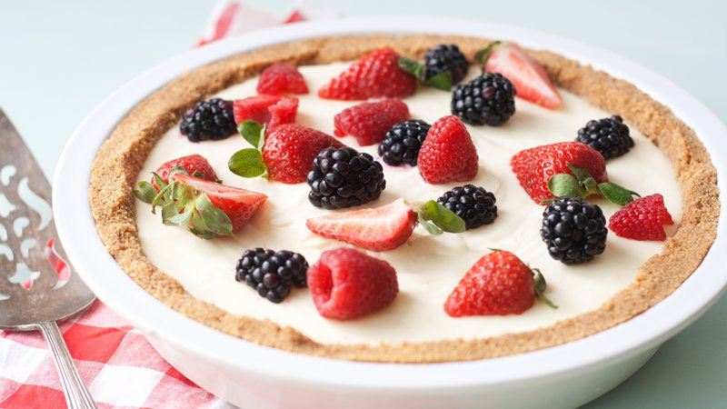 No-Bake Lemon Mousse Tart with Fresh Berries recipe from Betty Crocker