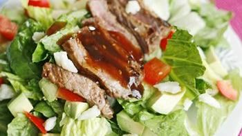 Asian Grilled Steak Salad with Manchego