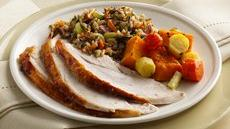 Maple-Glazed Turkey with Wild Rice Stuffing Recipe